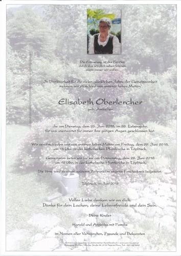 Elisabeth Oberlercher, geb. Amlacher