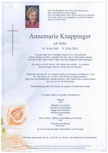 Annemarie Knappinger geb. Raffer