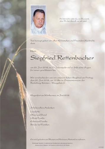 Siegfried Rettenbacher