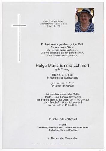 Helga Maria Emma Lehmert