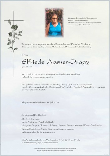 Elfriede Apsner-Dragy