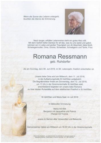 Romana Ressmann  geb. Ruhdorfer