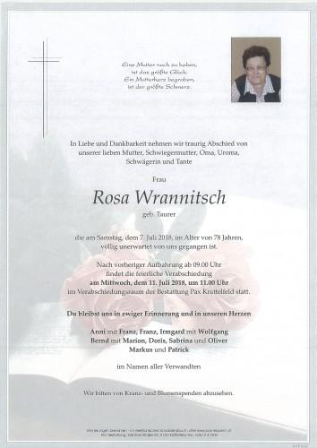 Rosa Wrannitsch