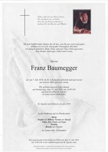 Franz Baumegger