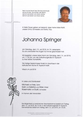 Johanna Spriger