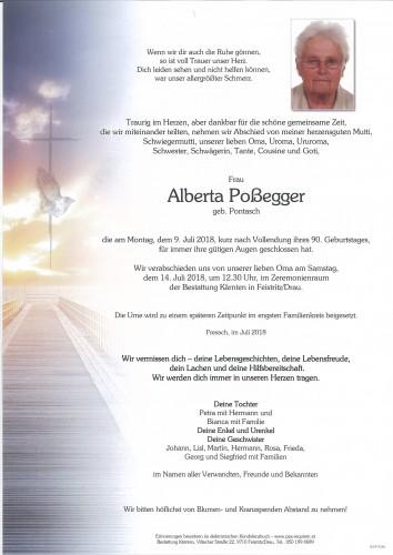 Alberta Poßegger, geb. Pontasch