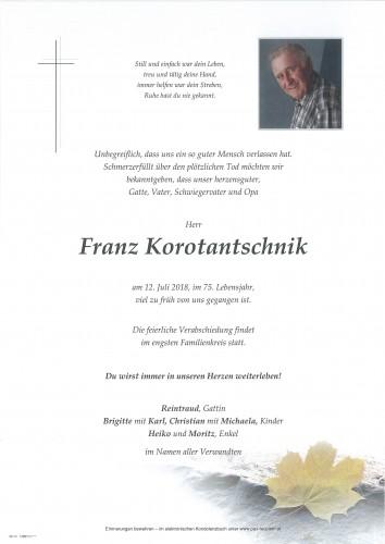 Franz Korotantschnik