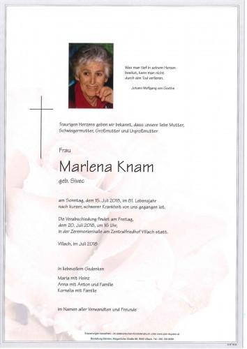 Marlena Knam geb. Sivec