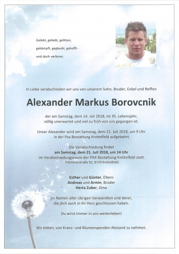 Alexander Markus Borovcnik