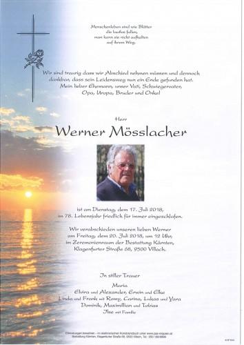 Werner Mösslacher