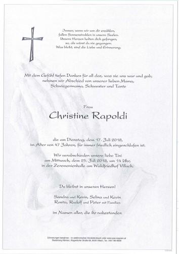 Christine Rosina Rapoldi