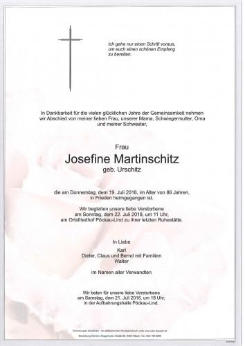 Josefine Martinschitz geb. Urschitz