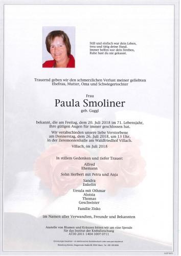 Paula Smoliner geb. Gaggl