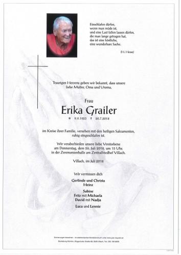Erika Grailer geb. Rabitsch