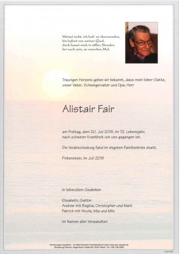 Alistair Fair