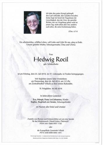Hedwig Rocil geb. Schützelhofer