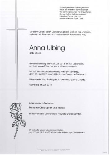Anna Ulbing