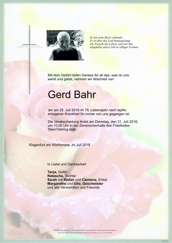 Gerd Bahr