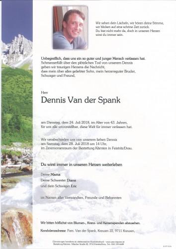 Dennis Van der Spank