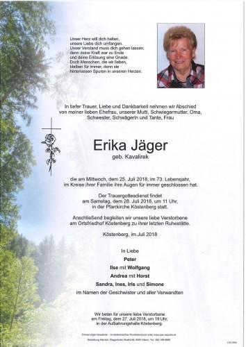 Erika Jäger geb. Kavalirek