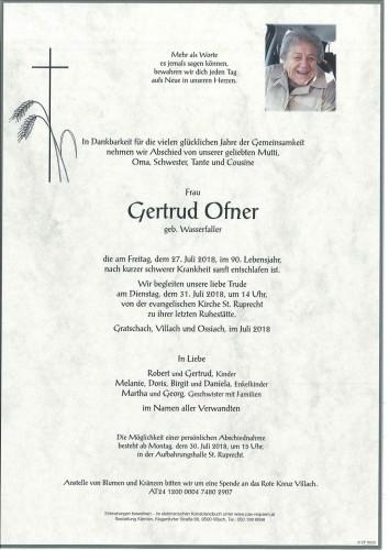Gertrud Ofner