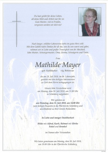Mathilde Mayer