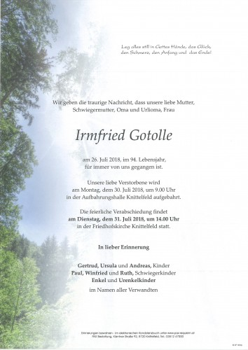 Irmfried Gotolle