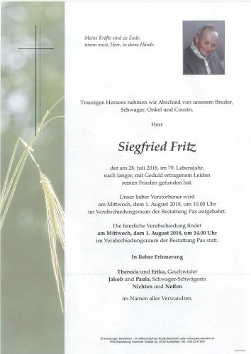 Siegfried Fritz