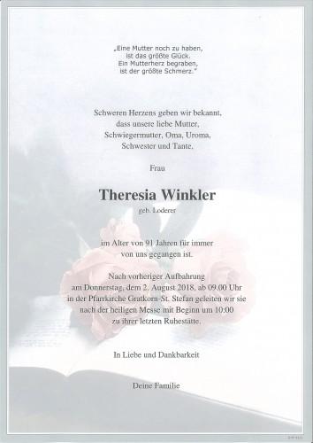 Theresia Winkler geb. Loderer