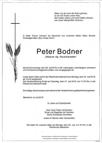 Peter Bodner, vlg. Keuschenpeter
