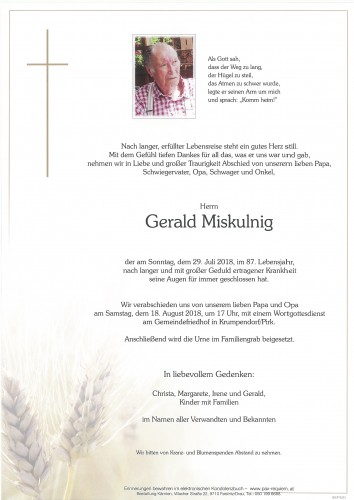 Gerald Miskulnig
