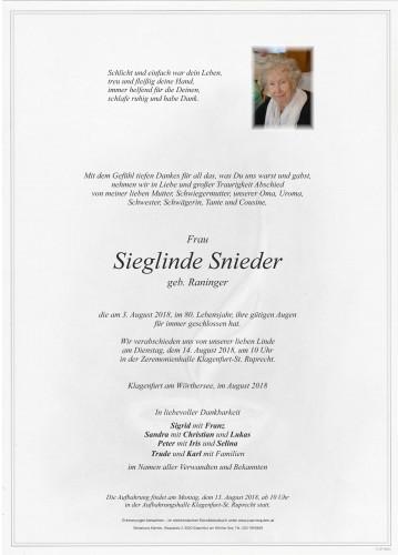 Sieglinde Snieder
