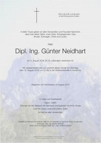 Dipl. Ing. Günter Neidhart