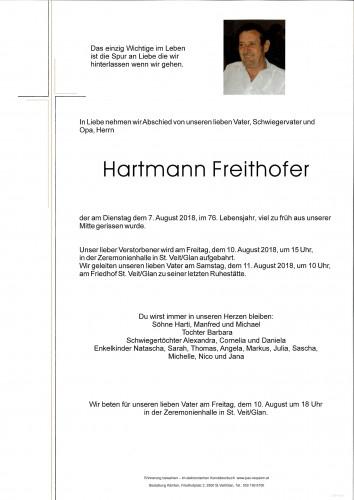 Hartmann Freithofer