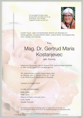 Gertrud Maria Kostanjevec