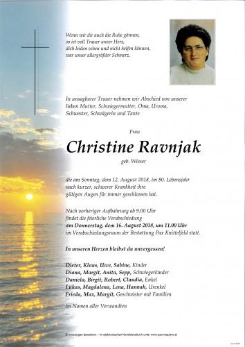 Christine Ravnjak
