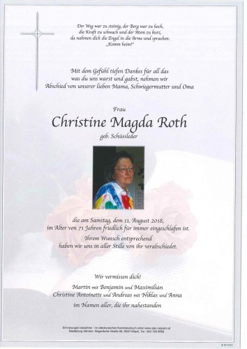 Christine Magda Roth