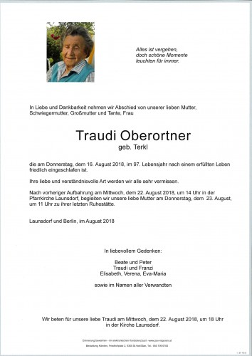 Traudi Oberortner