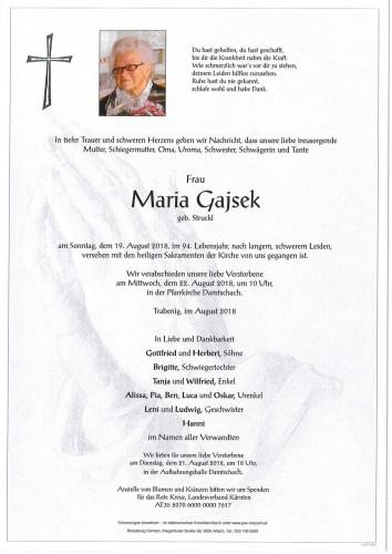 Maria Gajsek geb. Struckl