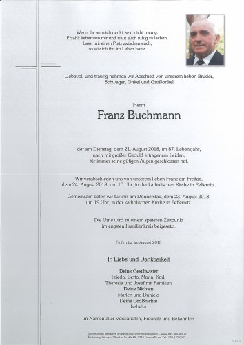 Franz Buchmann