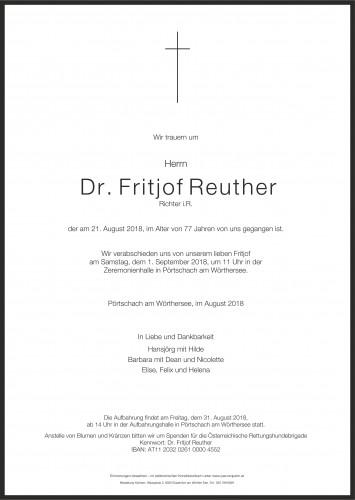 Dr. Fritjof Reuther