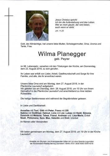 Wilma Planegger