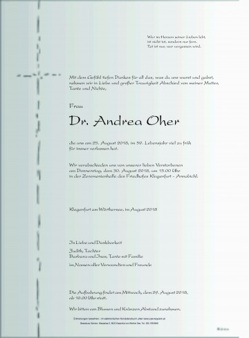 Dr. Andrea Oher