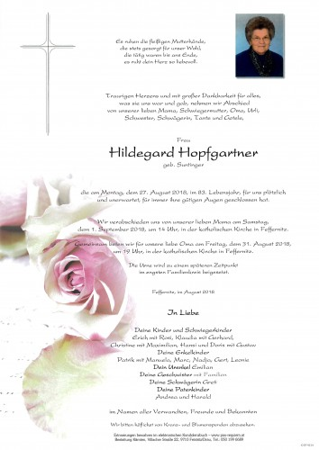 Hildegard Hopfgartner, geb. Suntinger