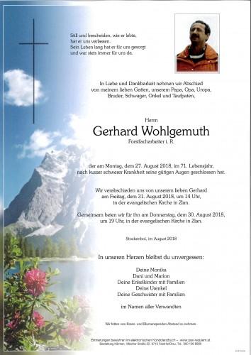 Gerhard Wohlgemuth