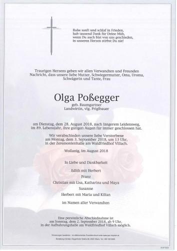 Olga Poßegger geb. Baumgartner