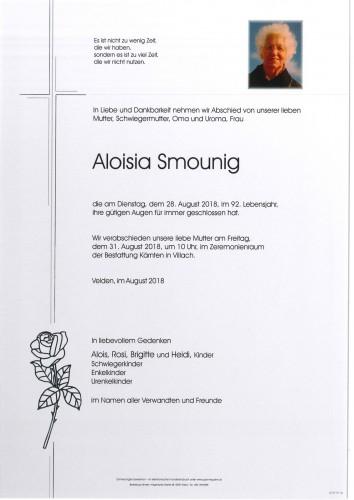 Aloisia Smounig