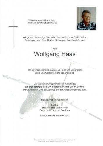 Wolfgang Haas