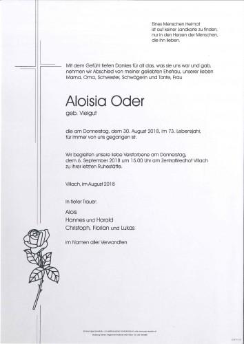 Aloisia Oder, geb. Vielgut