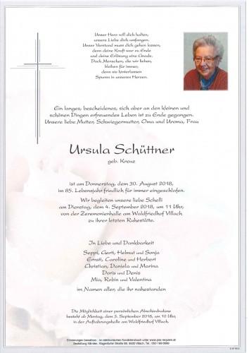 Ursula Schüttner geb. Kreuz